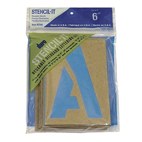 DURO by Graphic Products Stencil-It Oil Board Stencil Set, 6'' by DURO