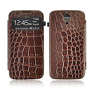 LHY Samsung S4 I9500 compatible Graphic PU Leather Full Body Cases , Brown