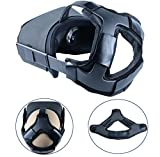Wireless : Esimen (Upgrade) Head Strap Pad for Oculus Quest Virtual Reality VR Headset Cushion Headband Fixing Accessories, Comfortable PU Leather & Reduce Head Pressure (Pad)
