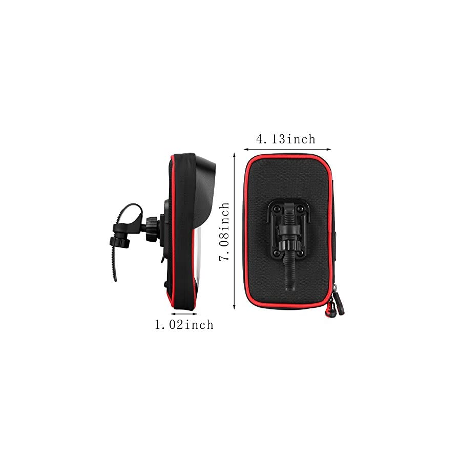 Cycling Bicycle Bike Top Tube Handlebar Bag Phone Mount Holder For Cellphone Below 6 Inch Waterproof Front Frame Bags