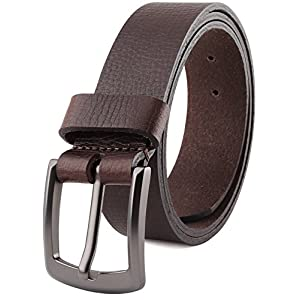 """Men's Full Grain One Piece leather Belt,1.5"""" Wide, USA,brown,size 38,# 7-989"""
