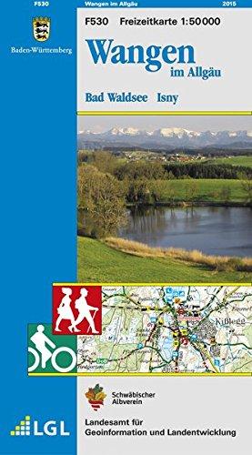 Wangen im Allgäu, Bad Waldsee, Isny: Karte des Schwäbischen Albvereins  (Freizeitkarten 1:50000)