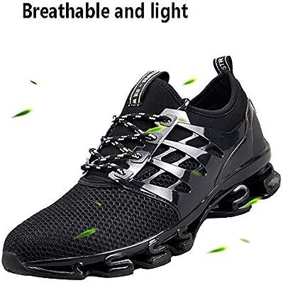 ASDFGH Zapatillas de Running para Hombre, Zapatillas de Deporte Transpirables y con absorción de Golpes Zapatillas de Tenis para Correr en Pista de Tenis para Adultos,Green,42: Amazon.es: Hogar