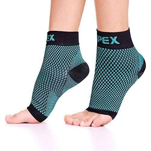 Ankle Brace Plantar Fasciitis Socks, Compression Foot Sleeves for Men Women, 1 Pair Heel Socks for Running, Arch Pain, Nurses, Maternity and More Sports (X-Large: 12-15″ arch circumference, Green)