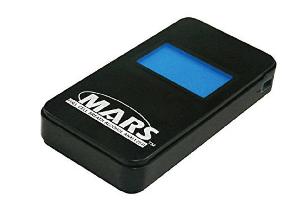 MARS Portable Alcohol Breath Tester- Professional Grade- Accurately Measures Breath Alcohol Content- Personal Breath Alcohol Tester Displays Accurate BAC Results in Seconds