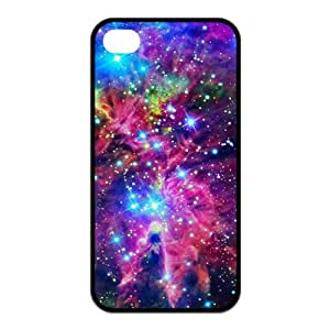Sparkle Galaxy Space Nebula Protective Rubber Back Fits Cover Case for iPhone 4 4s