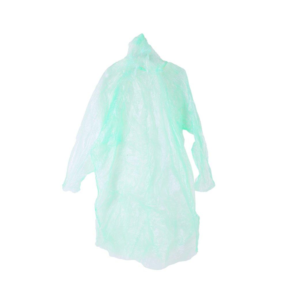 10Pcs Disposable Hooded Poncho Emergency Raincoat Adult Camping Hiking Travel Generic SHOMPFL1468