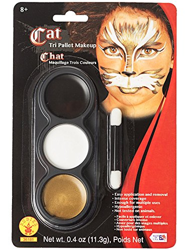 Makeup For A Cat Costumes - Mehron Makeup Tri-Color Halloween Makeup Palette