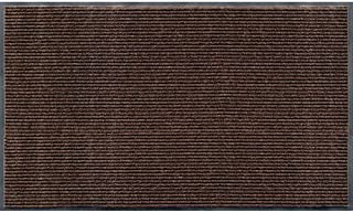 product image for Apache Mills Rib Commercial Carpeted Indoor and Outdoor Floor Mat, Cocoa Brown, 3-feet by 5-Feet