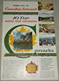 Single Original Vintage Print Ad: Canadian National Railways, Canada- enjoy one of Canadian Nationals 10 top Maple Leaf Vacations, ad features Jasper Park, single original vintage print ad from National Geographic