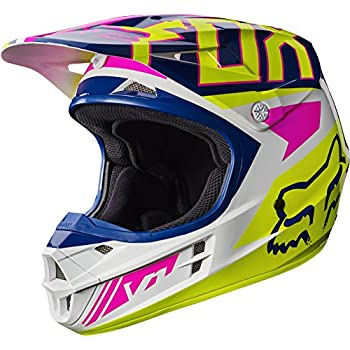 Fox Racing Falcon Adult V1 Motocross Helmets - X-Large,Navy/White