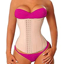 YIANNA High Waist Trainer Corset Latex Sports Waist Trimmer Hourglass Body Shaper