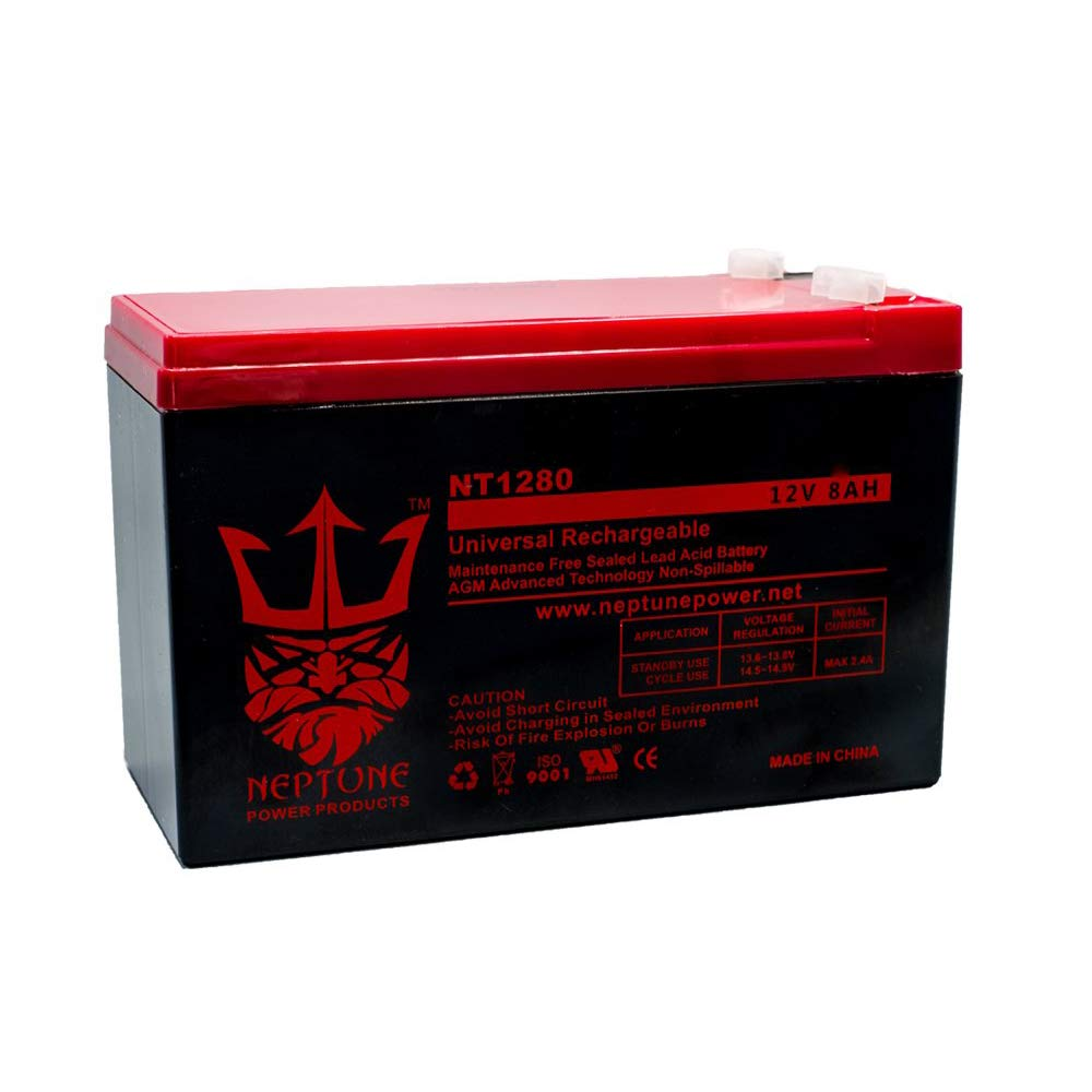 NT1280-12V 8AH Replacement for GT12080-HG FiOS Systems Battery-Neptune by Neptune Power