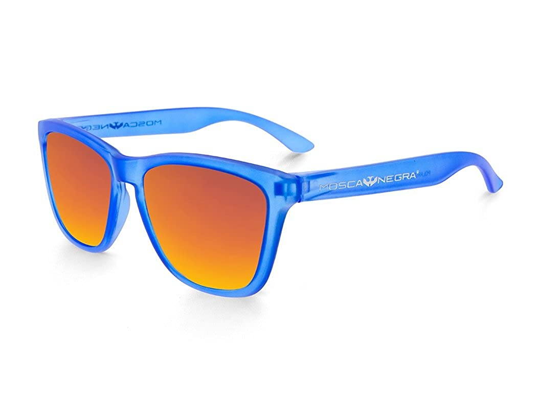 Gafas de sol MOSCA NEGRA modelo ALPHA TRANSPARENT MATTE BLUE and ORANGE - Polarized
