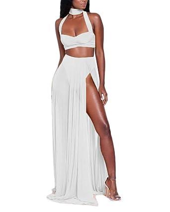 Mujer Falda Y Top Camisa 2 Piezas Conjunto, Casual Falda De Playa ...