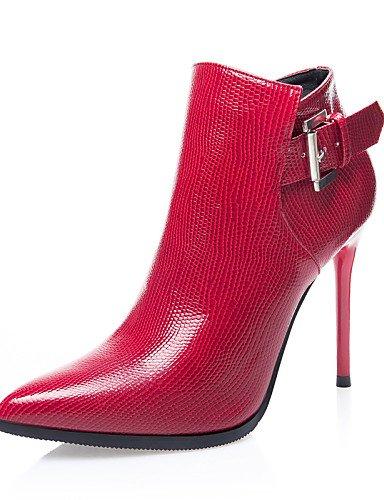 Uk6 De Cn37 Red us6 Stiletto Zapatos 7 Vestido us8 5 Rojo Mujer Cerrada C 5 5 Botines Gray Casual Tacón Uk4 Xzz Eu39 Punta Botas Eu37 Cn39 Semicuero Tacones negro Puntiagudos 5gHwxxB