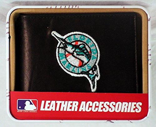 MLB Florida Marlins Embroidered Genuine Cowhide Leather Billfold Wallet