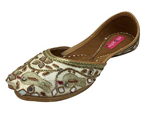 Step n Style - Sandalias de vestir para mujer Cream Gold