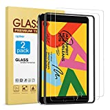 [2 Pack] Screen Protector for iPad 7th Generation 10.2 Inch (iPad 7) 2019 Release - apiker Tempered Glass Screen Protector Compatible with Apple Pencil
