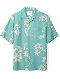 Men's Relaxed-Fit Silk/Linen Hawaiian Shirt