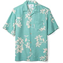 28 Palms Men's Relaxed-Fit Silk/Linen Tropical Hawaiian Shirt