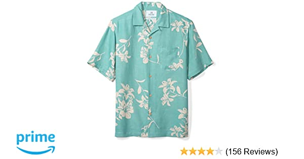 8a77a1f7 Amazon.com: Amazon Brand - 28 Palms Men's Relaxed-Fit Silk/Linen Tropical Hawaiian  Shirt: Clothing