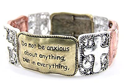 4030036 Christian Scripture Religious Bracelet Philippians 4:6-7 by The Quiet Witness