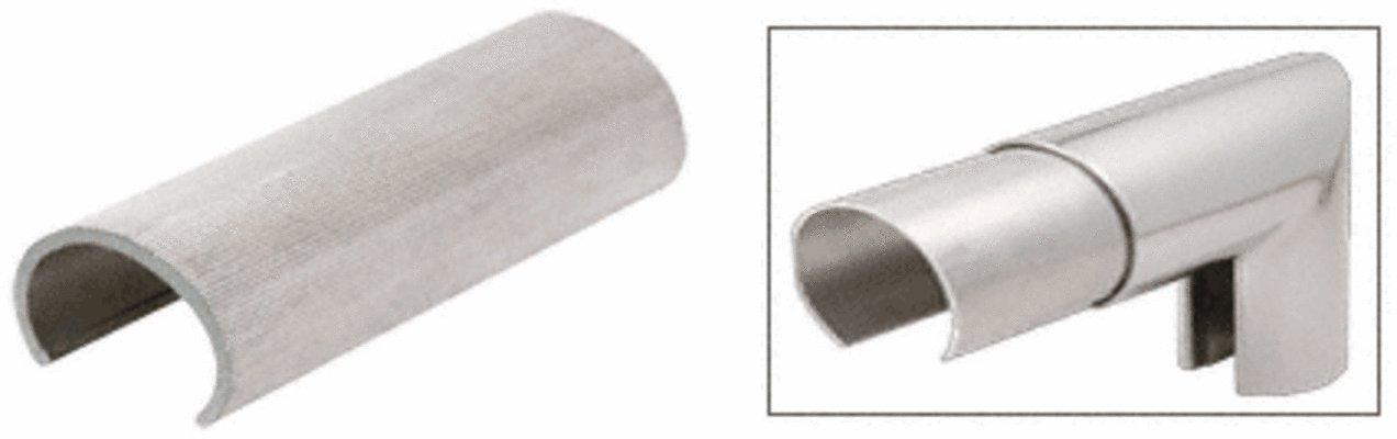C.R. LAURENCE GR0V4CSM CRL Mill Aluminum 4'' x 2-1/2'' Oval Connector Sleeve for Cap Railing, Cap Rail Corner, and Hand Railing
