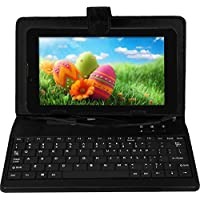 IKALL N1 512+4GB Dual Sim 3G+WIFI Calling Tablet with 2800 mAh Battery Capacity with Keyboard (Black)