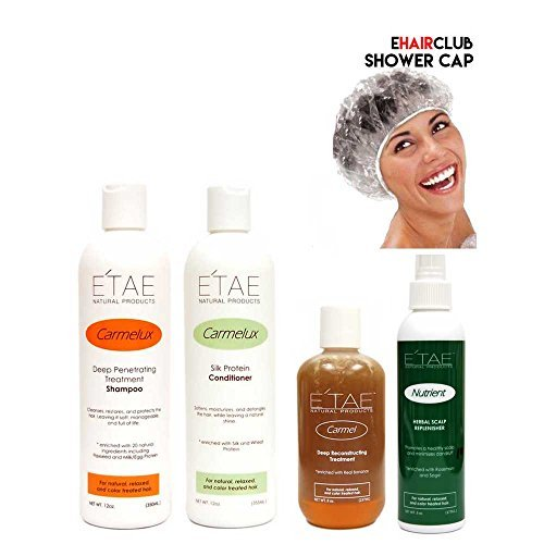 Etae Carmelux Shampoo Conditioner E'tae Carmel Treatment Nutrient Scalp Replenisher Combo Kit Natural Products by E'TAE Natural Products by E'TAE Natural Products