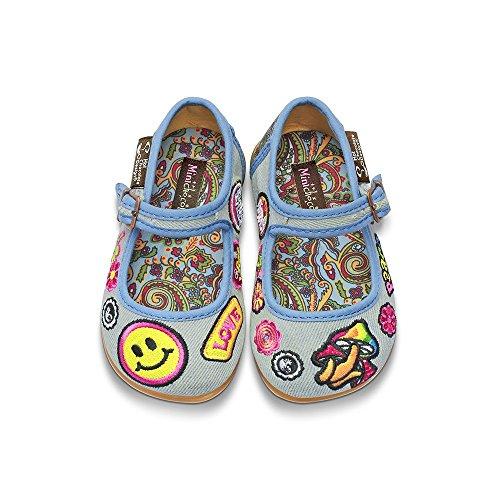 Hippie Mini (Hot Chocolate Design Mini Chocolaticas Hippie Girls Mary Jane Flat Multicoloured HCD 28)