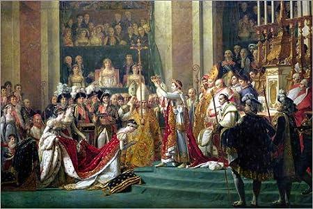 Posterlounge Alu Dibond 30 x 20 cm: The Consecration of the Emperor Napoleon di Jacques-Louis David/Bridgeman Images