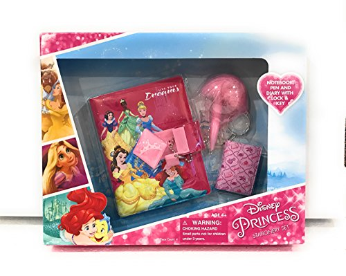 Disney Princess Stationery Set with Pen, Notebook and Diary