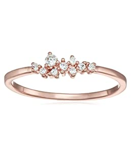 YJYdada Ring, 9 Diamonds Women's Ring Bride Ring Wedding Ring Birthday Gifts (Rose Gold, 6)