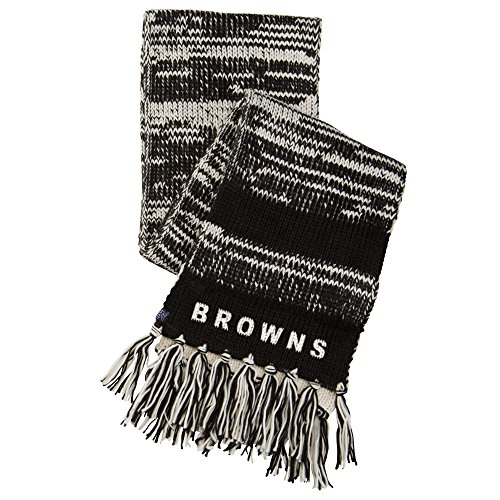 Touch by Alyssa Milano NFL Cleveland Browns Moto Marled Scarf, One Size, Black/White