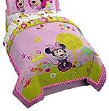 "Disney Minnie Mouse Bowtique Garden Party 76"" x 86"" Reversible Full Reversible Comforter"