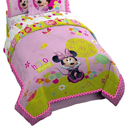 Disney Minnie Mouse Bowtique Garden Party 76' x 86' Reversible Full Reversible Comforter