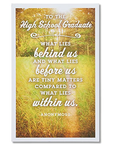 American Greetings High School Graduation Card with Embossing