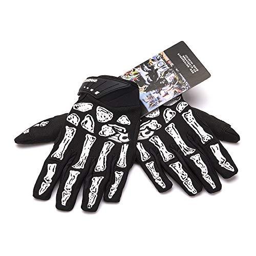(Ants-Store - Robesbon Men's Women's Glove Sports Racing Motorcycle Gel Bike Bone Skeleton Bicycle Full Finger Cycling Gloves)