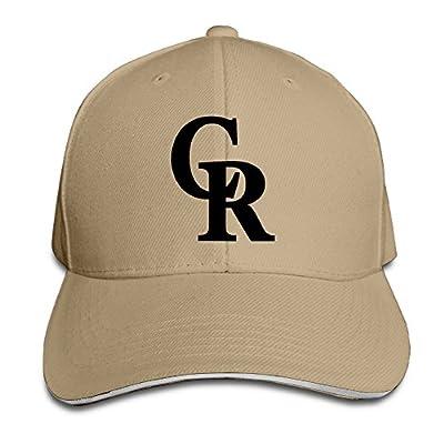 NUBIA Colorado Cr Logo Rockies Sandwich Peak Trucker Cap Snapback Hat Natural