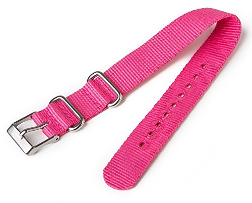 Timex T7B993 Weekender 16mm Pink Nylon Slip-Thru Watch Strap