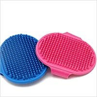 Pet Brush Dog Grooming Brush Dog Bath Brush, pet Shampoo Bath Brush, pet Rubber Brush, with Adjustable Ring Handle…