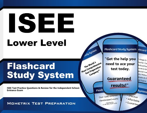 Download ISEE Lower Level Flashcard Study System: ISEE Test Practice Questions & Review for the Independent School Entrance Exam Pdf