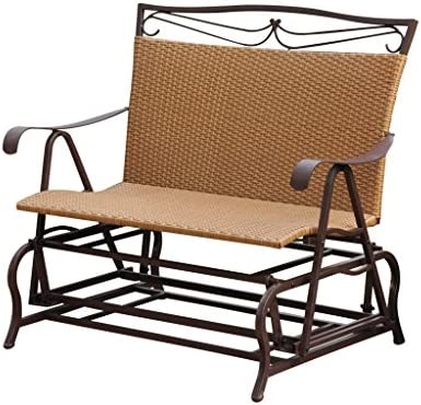 Valencia Steel-Frame Wicker Glider Rocking Chair, Chocolate