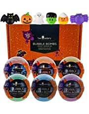 Squishy Bubble Bath Bombs for Kids with Surprise Squishy Toys Inside by Two Sisters. 6 Large 99% Natural Fizzies in Gift Box. Moisturizes Dry Skin. Releases Color, Scent, Bubbles