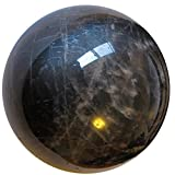 Satin Crystals Moonstone Black Ball 2.4'' Collectible Opal Sheen Beauty in the Beholder Healing Sphere Stone C04