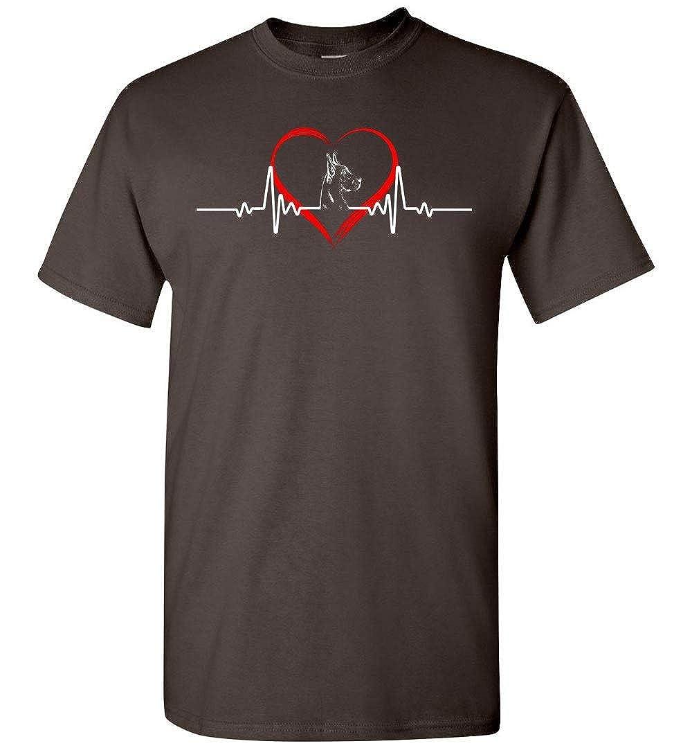 Great Dane Heart Beat Lovers T-Shirt Gift