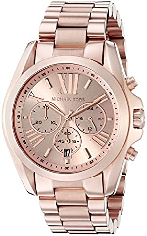 Michael Kors Roman Numeral Watch MK5503 Rose Gold (Michael Kors Bradshaw Watch 43mm)