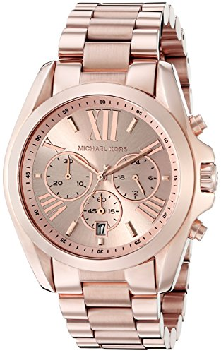 Michael Kors Roman Numeral Watch MK5503 Rose - Kors Michael Oversized