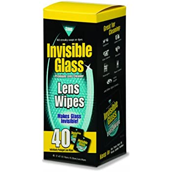Invisible Glass Lens Cleaning Wipes - 40 count, 90101